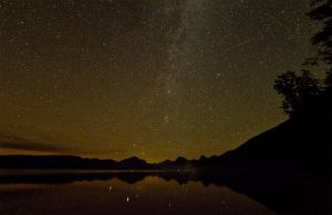Glacier NP-Milky Way Over MacDonald Lake